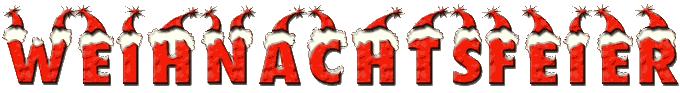 Weihnachtfeier-Schriftzug